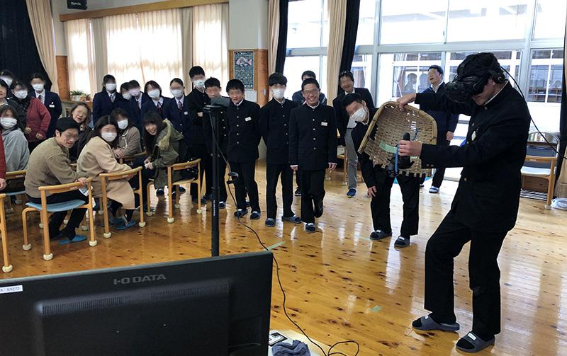 吉田中学校 torques VRどじょうすくい dojos